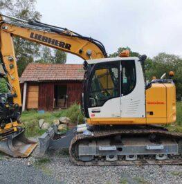 Bandburen grävmaskin för markarbete
