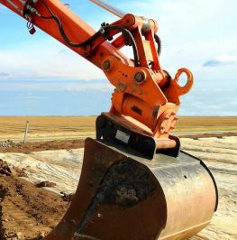 Grävskopa för dräneringsarbete